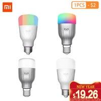 Yeelight-bombilla colorida E27, APP inteligente, WIFI, Control remoto, luz LED RGB/colorida, lámpara romántica de temperatura