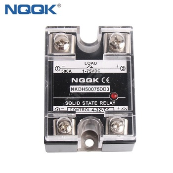 500A LOAD 75 V DC CONTROL 32V DC Single Phase SSR solid state relay single phase solid state relay ssr 100vd dc control high temperature resistance relay