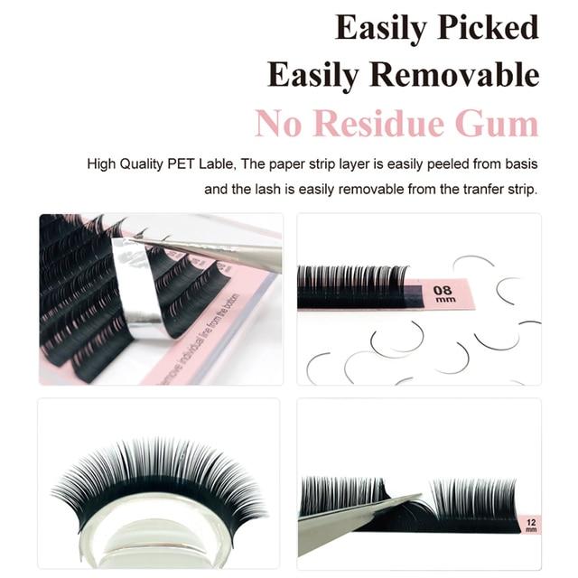 NATUHANA 16lines 8~15mm Mixed Eyelash Extension 100% Handmade Natural Soft False Lashes Wholesale Mink Fake Eyelashes Supplies 1