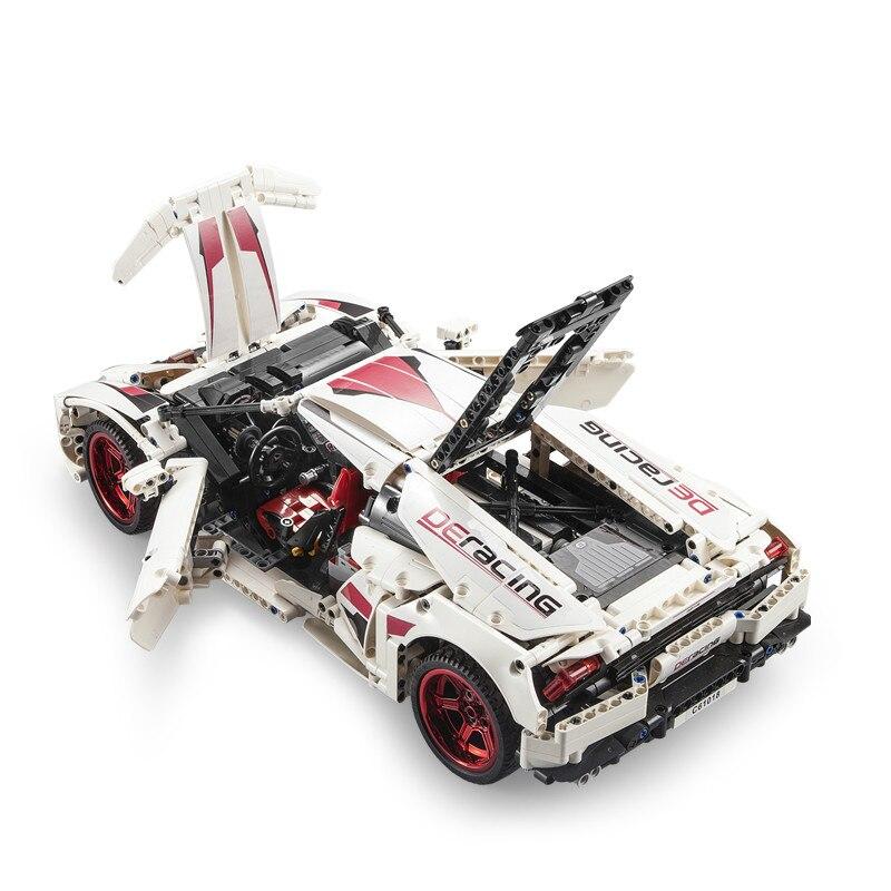 NIEUWE CADA LP610 RC Super Racing Auto Bricks Compatibel Technic Model Bouwstenen Afstandsbediening Auto Racing Speelgoed Voor Kinderen - 4