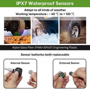 Image 3 - Car TPMS Sensor Tyre Pressure Monitoring System Solar Monitor Tire Wireless Sensors TMPS Wheels Security Alarm External Internal