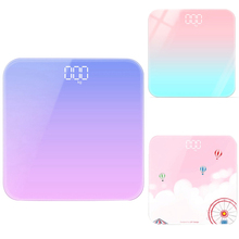 Bathroom Body Floor Scales Glass Smart Electronic Scales USB LCD Display Body Weighing Digital Body Weight Scale