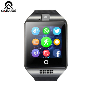 Top Brand Bluetooth Men Smart Watch With Camera  Sync SMS Woman Smartwatch Support SIM TF Card For IOS Android