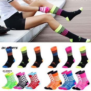 Dh esportes profissionais meias de ciclismo alta legal alto mountain bike meias esporte ao ar livre meias compressão venda correndo desconto 1