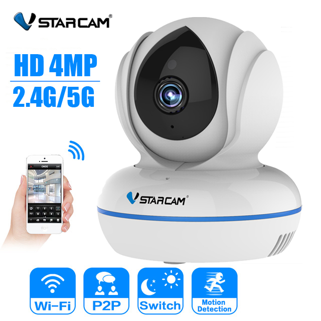 Vstarcam IP Camera C22Q 4MP IP Camera 2.4G/5G Wifi Camera IR Night Vision Motion Alarm Video Surveillance Security Camera H.265