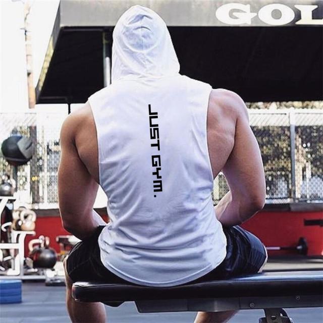 New Fashion Cotton Sleeveless Shirts Gym Hoodies Tank Top Men Fitness Shirt Bodybuilding Singlet Workout Vest Men 1