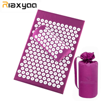 Massager (appro62*39cm)Cushion Massage Mat Acupressure Relieve Back Body Pain Spike Mat Acupuncture Massage Mat with Pillow