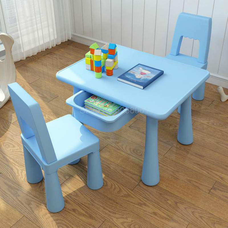 Children's Table And Chair Set Kindergarten Table And Chairs Baby Study Table Home Writing Toy Table