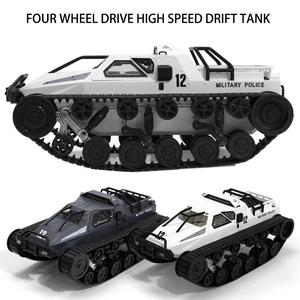 JJRC D843 1/12 2.4G Simulation RC Off-Road Drift Military Tank Model Kids Toy High Speed Full Proportional Control Vehicle Model