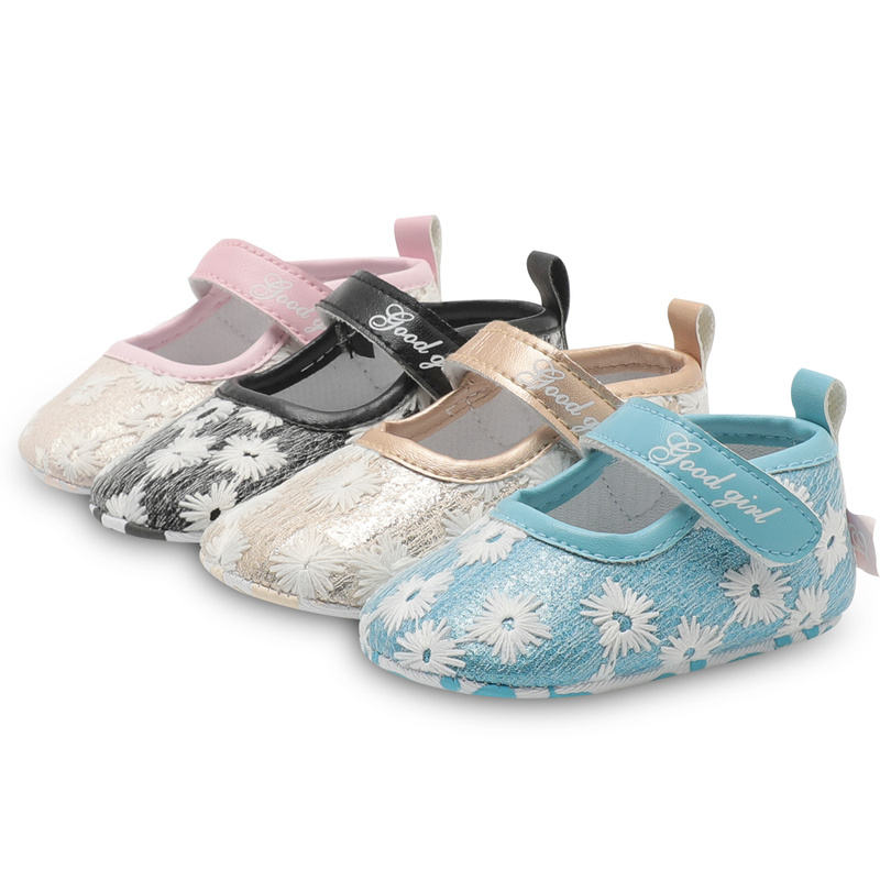 Baby Girl Shoes Newborn Toddler Boy Soft Sole Cotton Flower Print Infant Easy On Off First Walkers Party Princess Baby Moccasins