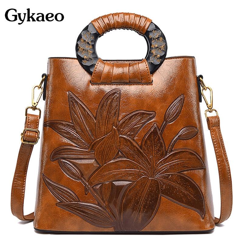 High Quality Women Handbag Floral Luxury Handbags Women Bags Designer Fashion Tote Bag Ladies PU Leather Crossbody Shoulder Bag