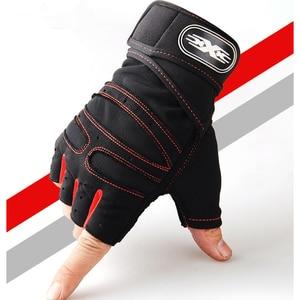 Image 1 - 15 คู่มือลื่นกีฬา Crossfit ถุงมือยกน้ำหนักถุงมือ Dumbbell Body Building ฟิตเนสถุงมือ