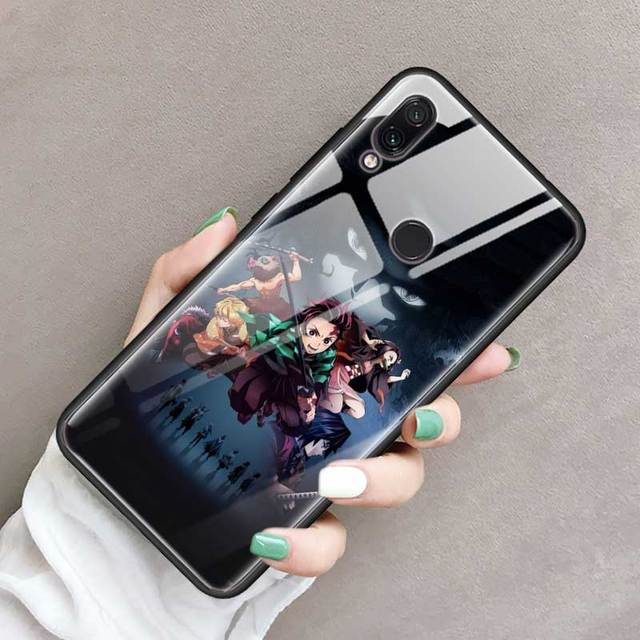 Demon Slayer Kimetsu no Yaiba Tempered Glass Cover For Xiaomi Redmi Models