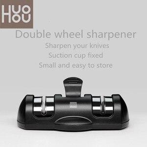 Image 1 - Huohou Sharpen Stone Double Wheel Whetstone Sharpeners K nife Sharpening Tool Grindstone Kitchen Tools HUOHOU