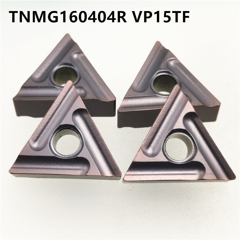 10pcs TNMG160404R VP15TF High Quality Carbide Inserts External Turning Tools TNMG160404 R Metal Turning Machine Parts Lathe Tool