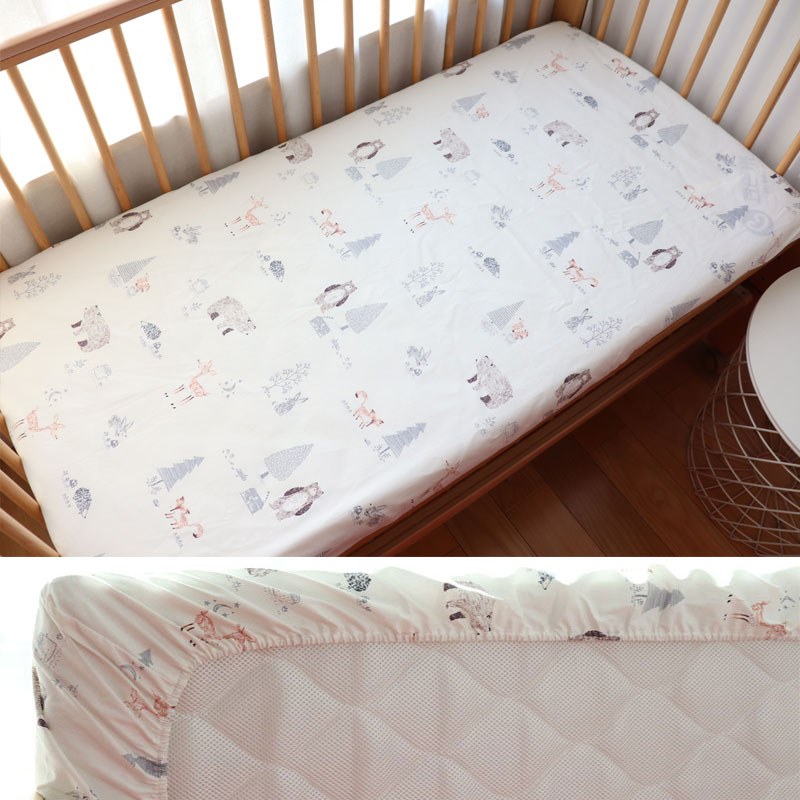 Baby Crib Fitted Sheet Cotton Baby Cot Bedding For Newborns Kid Bed Mattress Cover With Elastic For Children Accept Custom Make