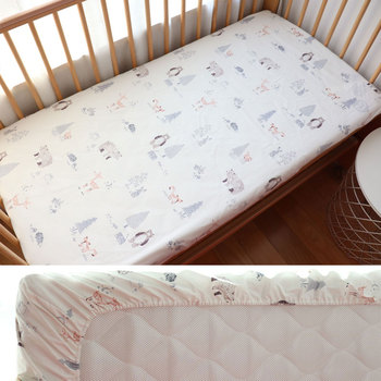 Baby Crib Fitted Sheet Cotton Baby Cot Bedding For Newborns Kid Bed Mattress Cover With Elastic For Children Accept Custom Make baby bedding set for newborns soft cotton crib bedding set with bumper for girl bed linen for kid baby nursery decor custom made