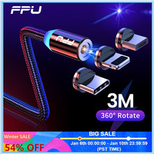FPU 3m Magnetic Micro USB Cable For iPhone Samsung Android Mobile Phone Fast Charging USB Type C Cable Magnet Charger Wire Cord-in Mobile Phone Cables from Cellphones & Telecommunications on AliExpress