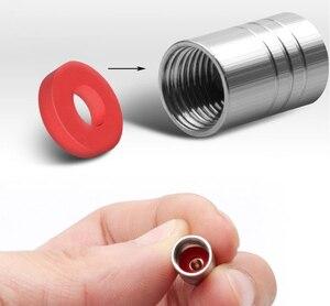 Image 3 - 4 pçs tampões de válvula de pneu de carro de alumínio válvula de ar do pneu para dacia duster logan sandero lodgy stepway mcv 2 acessórios