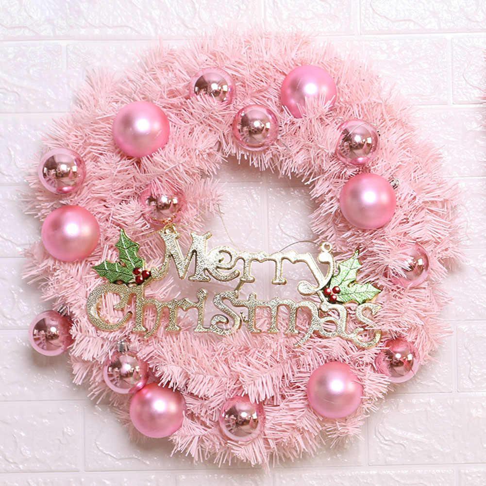 Mahkota Bunga Headband Lampu LED Natal Rambut Wreath Rotan Gantung Dekorasi Luminous Rambut Garland Hairband