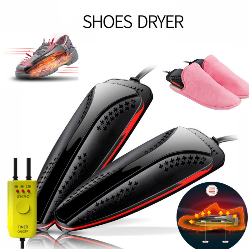 20W PTC Heating Electric Shoes Dryer With Timer Ultraviolet Rays Shoe Sterilization Dryer Deodorant Drying Device Home Tool