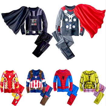 New Kids Boy Hulk Spiderman Ironman Thor Winter Pyjamas Avengers Sleepwear Clothes Set Child Pijamas Chidren Pajamas - discount item  74% OFF Children's Clothing