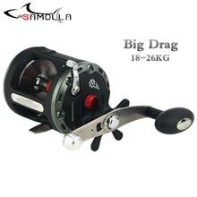 Jigging Fishing Reel Max Drag 28kg Drum Reel Carp Right Hand