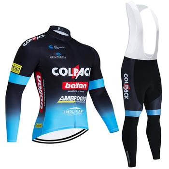 Invierno Team COLPACK Ciclismo Jersey Ropa deportiva 20D Bike Pants hombre Long...