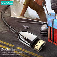 USAMS HD 8K HDMI-Compatible 2.1 Converter 48Gbps K/60Hz 4K/120Hz Digital Cable for Laptop TV Box Display PS5 PS4 Gaming Splitter