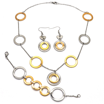 Circle Round jewelry set, Earring Necklace Pendant DUOCAIX
