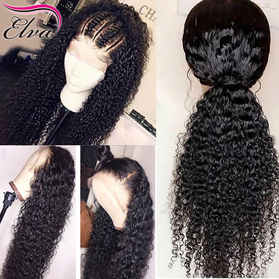 Deep Wave 360 Lace Frontal Wig Elva Hair Human Hair Wigs For Black Women Pre Plucked 360 Frontal Wigs With Baby Hair Remy Hair