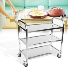 Napkin Bottles-Plate Trolley Hotel for Tableware Foods Clearing Stainless-Steel Large