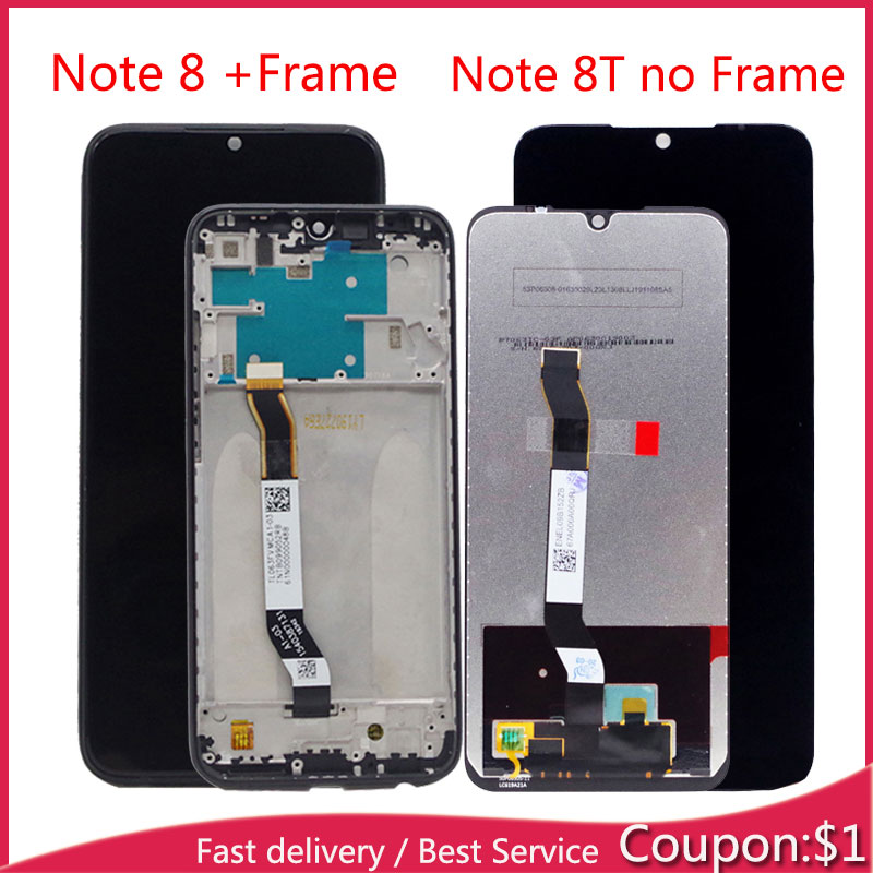 "For 6.3"" Xiaomi Redmi Note 8T / Note8 LCD Display With Touch Screen Panel Assembly For Xiaomi Display Redmi Note 8T