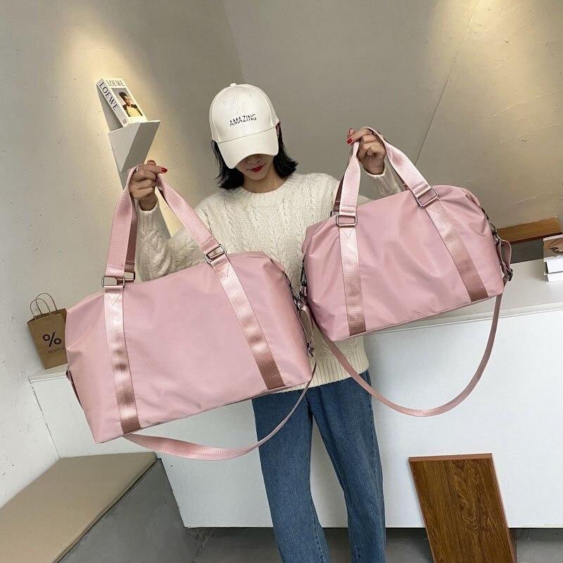 Mode grand sac de voyage femmes cabine sac fourre-tout sac à main en Nylon sac à bandoulière étanche femmes week-end sac de sport femme