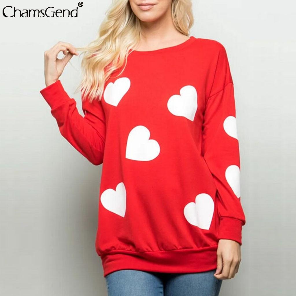2020 Valentines Heart Print Tshirt Women Korean Style Long Sleeve O neck Sweatshirt Tees Harajuku Fashion Shirts Couple Clothes on AliExpress