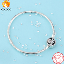 100% pure 925 Sterling Silver Poetic Cherry Blooms Bracelet & Bangles For Women Fit DIY Charms Beads Original Jewelry Gift ZY17 цена