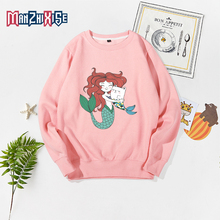 Children Autumn Long Sleeve Costume Boys Cartoon Girls Tops Clothes Mermaid Print Kids Hoodies Girl Sweatshirt Childrens