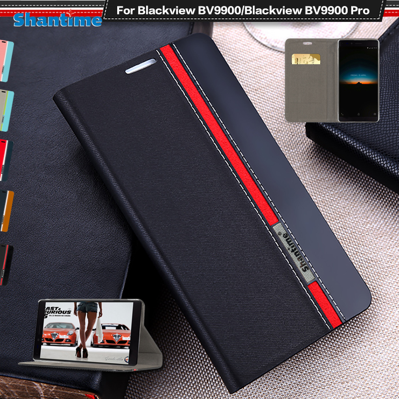 Luxury PU Leather Case For Blackview BV9900 Pro Flip Case For Blackview BV9900 Phone Case Soft TPU Silicone Back Cover(China)