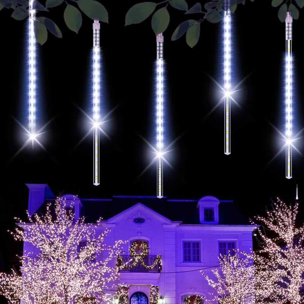 Waterproof 8Tube Meteor Shower Rain Decor Lights Garden Outdoor Decor Christmas