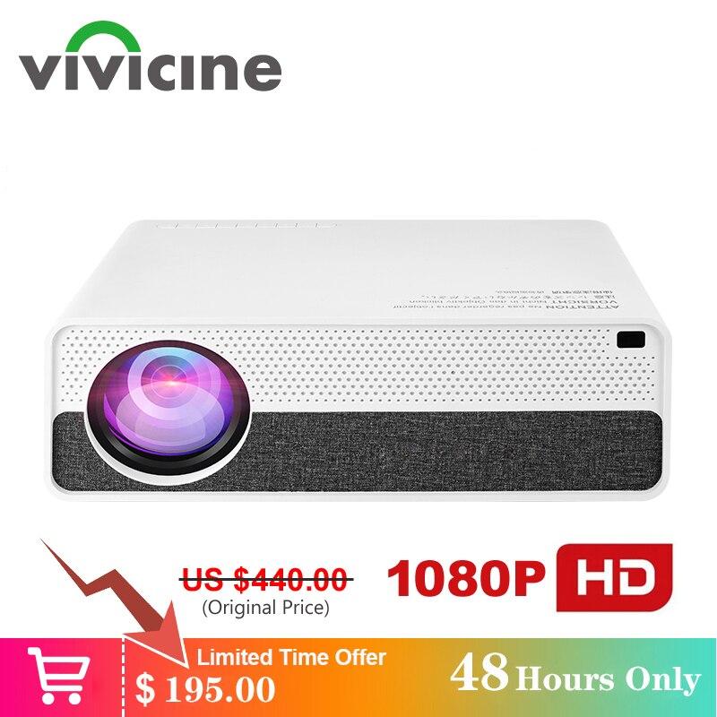 Vivicine m19 mais novo 1080p projetor, opção android 9.0 hdmi usb pc 1920x1080 hd completo led projetor de vídeo de cinema em casa proyector