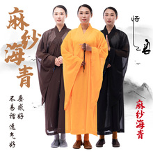Meditation Zen Shaolin Hanfu Chinese Traditional Clothings for Monk Costume Buddhist Clothing Monk Robe Taoism Tibetan Clothes