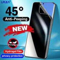 Volle Abdeckung Hydrogel Film Für Samsung Galaxy S10 S20 S9 S8 Privatsphäre Screen Protector Note 20 10 9 8 Plus schutz Film Nicht Glas