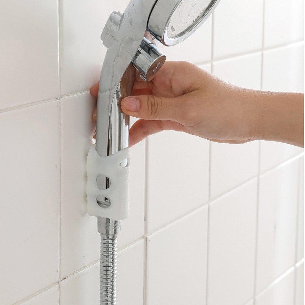 US $12.12 12% OFFWand Montiert Dusche Saugnapf Halterung Dusche Saugnapf  Halterung Dusche Kopf Hörer Halter BadHaken & Leisten - AliExpress Fotos