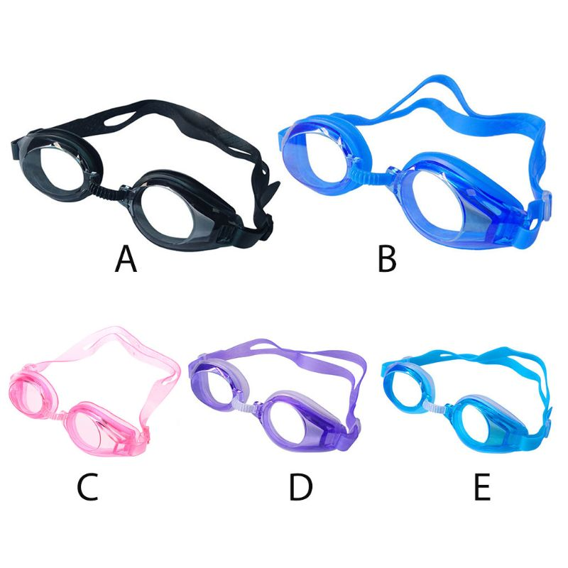 Adult Kid Swimming Goggles No Leaking Anti Fog Waterproof UV Protection Adjustable Rubber Band Optical Glasses With Portable Bag