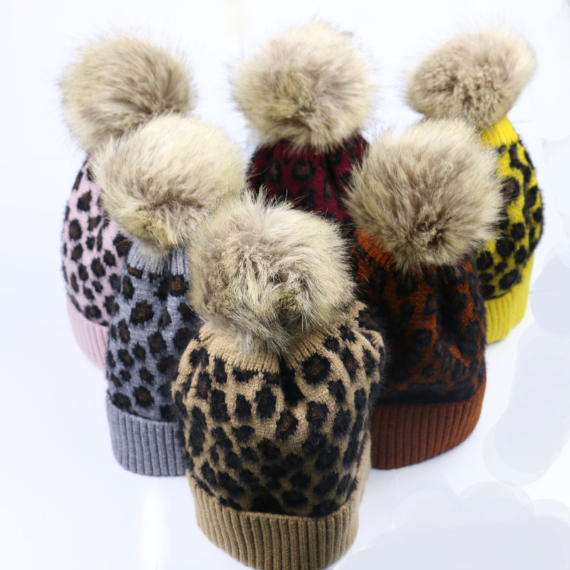 Hat Korean-Style Winter Women's And Autumn Leopard Amazon Do Foreign-Trade Knitted Hot-Selling