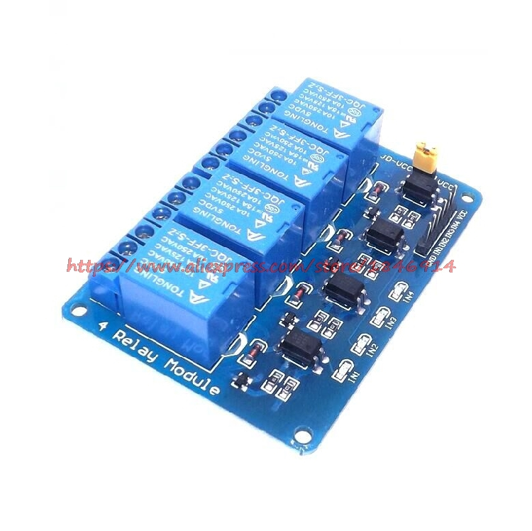 Free Shipping 5V 4-Channel Relay Module Shield For ARM PIC AVR DSP Electronic 5V 4 Channel Relay Module Sensor