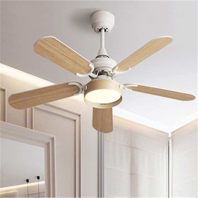 Postmodern Retro Wood Led Ceiling Fan Lamp Fashion Art Design Coffee Shop Restaurant Bedroom Baking Studio Fan Lighting
