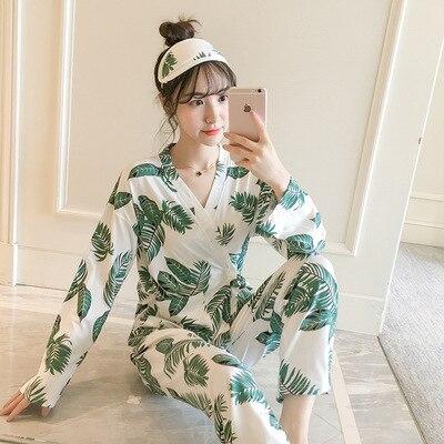 Photo Shoot Spring And Autumn Women Pajamas Long Sleeve Kimono