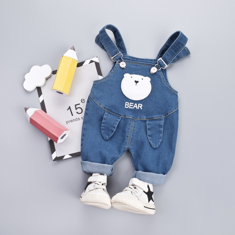 Jumpsuit Baby Pants Autumn Winter Boys Girls Baby OverallsOveralls Pants Kids Boys Bear Jeans Cotton Pants Toddler Girls Clothes