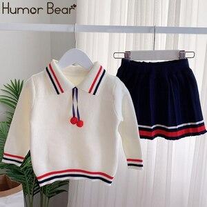 Image 5 - Humor Bär Mädchen Kleidung Anzug Herbst Winter New College Stil Mädchen Pullover + Rock Sets Für 2 6T 2019 kinder Kleidung Für Mädchen